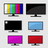 Set of televison banner Stock Photography