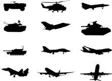 set tema för militär Royaltyfri Bild