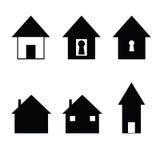 set tema för olik för godshussymbol fast egendom för logotyper verklig Royaltyfria Foton