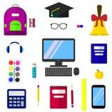 Set tematy dla edukaci Fotografia Stock