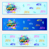 Set of template banners. Bright modern abstract design for your. Business Royalty Free Stock Photography
