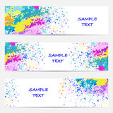Set of template banners. Bright modern abstract design for your Stock Photo