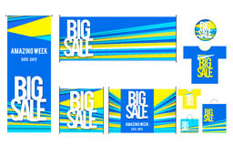 Set of template for Big sales design Royalty Free Stock Photo