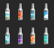 Set of template blank label for glass, plastic or paper bottle with new design. Royalty Free Stock Photography