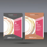 Set template for brochure, poster, application and online service Royalty Free Stock Photography