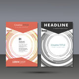 Set template for brochure, poster, application and online service Stock Image