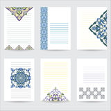 Set template color mandala in Italian majolica style for your design letters, postcards, invitations Royalty Free Stock Images