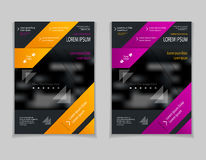 Set template of flyers or brochures or magazines  covers  on  black background Stock Photo