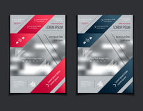 Set template of flyers or brochures or magazines  covers  on  grey background Stock Photos
