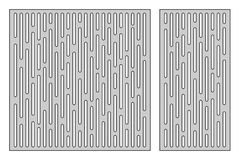 Free Set Template For Cutting. Line Geometry Pattern. Laser Cut. Ratio 1:1, 1:2. Vector Illustration. Royalty Free Stock Photo - 107465125