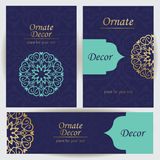 Set template frame for greeting card Stock Images