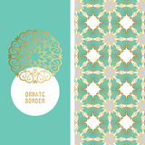 Set template frame for greeting card Royalty Free Stock Photography