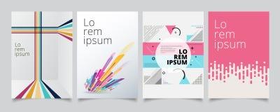 Set Template Geometric Covers Design, Gradient Colorful Halftone Stock Photo
