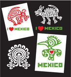 Set of Template I Love Mexico Designs Royalty Free Stock Images