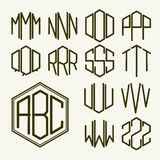 Set 2 template letters to create a monogram Stock Photos