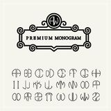 Set  template letters to create monograms  e Stock Images