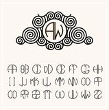 Set  template letters to create monograms Royalty Free Stock Image