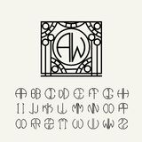 Set  template letters to create monograms Stock Images