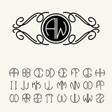 Set  template letters to create monograms Royalty Free Stock Images