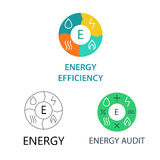 Set template  logos for energy companies Stock Photo