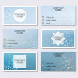 Set template of modern business visiting cards. Abstract background with molecule structure DNA and neurons. Medicine. Science and technology. Vector Royalty Free Stock Images