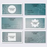 Set template of modern business visiting cards. Abstract background with molecule structure DNA and neurons. Medicine. Science and technology. Vector Stock Photos