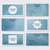 Set template of modern business visiting cards. Abstract background with molecule structure DNA and neurons. Medicine. Science and technology. Vector Stock Images
