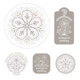 Set template organic design. Royalty Free Stock Image