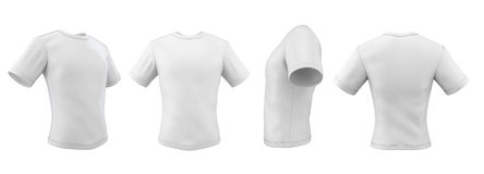 Set of template t-shirts from different angles Royalty Free Stock Photos
