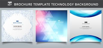 Set template technology covers design. vector illustration