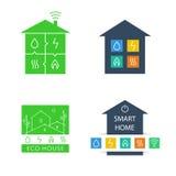 Set template vector logos. Eco-friendly house Stock Photos
