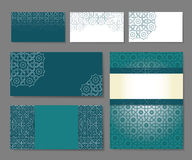 Set of templates in arabic. Banners set of templates with arabic ornament,  illustration Royalty Free Stock Photos