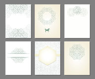 Set of templates in arabic. Banners set of templates with arabic ornament,  illustration Royalty Free Stock Images