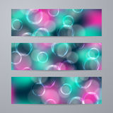 Set of templates for banners Royalty Free Stock Images