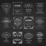 Set of templates with banners vintage design Stock Photography