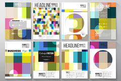 Set of templates for brochure, flyer or booklet. Abstract colorful business background, modern stylish vector texture Royalty Free Stock Photography
