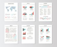 Set of templates for business brochures, web pages Stock Photos