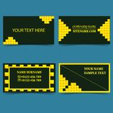 Set-of-templates-for-business, business-card-modern-design vector illustration