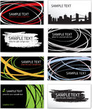 Set of templates business cards Royalty Free Stock Photography