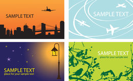 Set of templates for business cards Royalty Free Stock Images