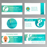Set of templates for business cards. Elements for design. Eps10 Royalty Free Stock Photography