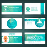 Set of templates for business cards. Elements for design. Eps10. Set of templates for business cards. Elements for design royalty free illustration