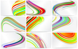 Set of templates for business cards. Royalty Free Stock Images