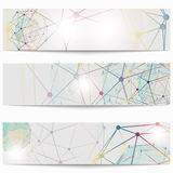 Set of templates business scientific banners. Modern stylish graphics. Stock Photography