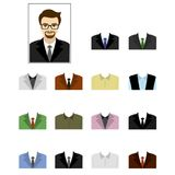 Set templates business suits Royalty Free Stock Photo
