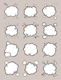 Set of templates for cartoon background. Boom comic book explosion, speech bubble vector illustration vector illustration