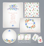 Set of templates for celebration, wedding. Stock Photo