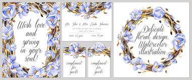 Set of templates for celebration, wedding. Stock Images