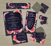 Set of templates for celebration, wedding. Stock Photography