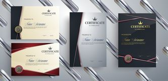 Set of templates of the certificate.Vector Illustration royalty free illustration